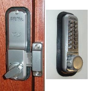 lockey keyless entry door lock surface mount
