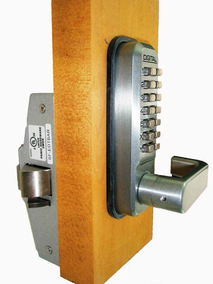 Lockey Keyless Panic Bar Exit Door Lock 285 P