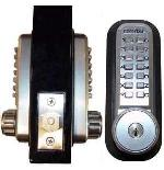 Lockey Keyless Entry Door Lock 2210DC KO Deadbolt Key Override Mechanical