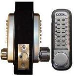 Keyless Gate Lock Lockey 2230DC Spring Latch Double Sided Mechanical