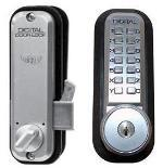 Lockey Keyless Entry Sliding Door Lock 2500KO Hook Key Override
