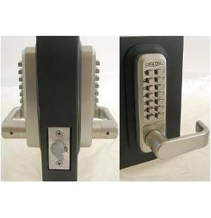 Lockey Keyless Entry Door Lock 2835DC MG Spring Latch Mechanical