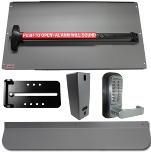 Detex Alarm Panic Bar and Panic Shield Security Kit