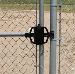 TB100 On A Chain Link Gate