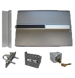 Lockey ED-54 & ED-55 EDGE Safety Panic Shield Kit With PB2500 Panic Bar & Alarm Option
